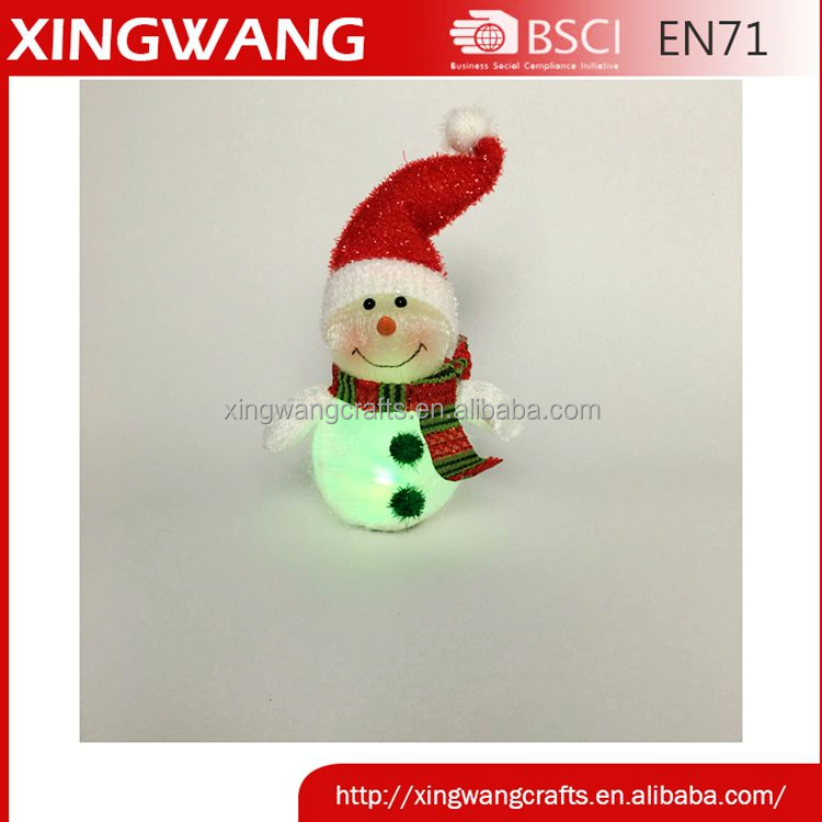new design chrisitmas led snowman plastic LED Lighted snowman