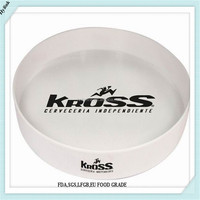 HY9005 round plastic anti-slip serving tray plastic anti slip tray non slip tray