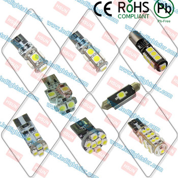 Canbus LED T10 W5W 4W with samsung led chip