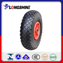 PU Foam Flat-free Wheelbarrow Wheel with Steel Rim 3.00-4