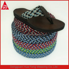 Colored woven braided elastic band for shoes and belts
