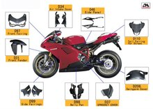Carbon Fiber motorcycle parts for Ducati 1098 1198 848