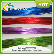 HR PET colored craft wire with metallic l wire any colors