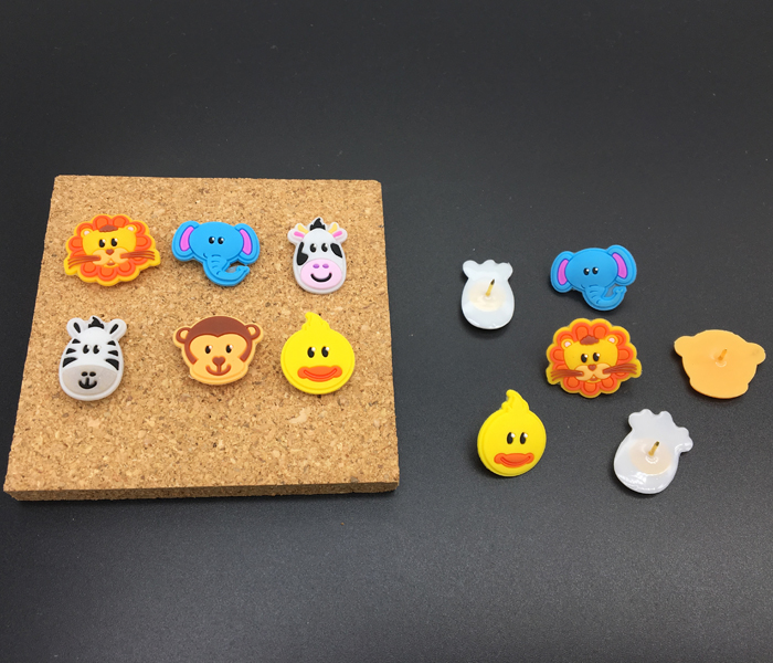 Rubber Head Decorative Push Pins For Cork Board