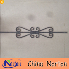 Ornamental house new wrought iron gate accessories design NTIA-007A