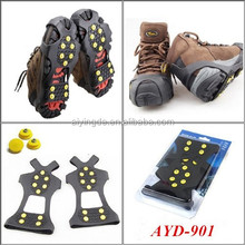 10 SPIKES Anti-slip Silicone ice grip & climbing ice crampon rubber ice grip