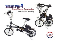 400W FEB350F portable / foldable / folding electric bike with smart pie 4 motor, sine wave controller