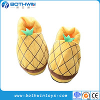 Antiskid Pineapple Fruit Soft Plush Warm Slippers