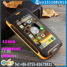 "F605 4.5"" unbreakable waterproof shockproof mobile phone WCDMA phone MTK6572 dual Core dual sim smart phone ip68 phone 12000 mah"