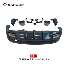 2014 PP Material W156 GLA260 To GLA45 Rear Bumper Diffuser with tips for Mercedes BEN Z