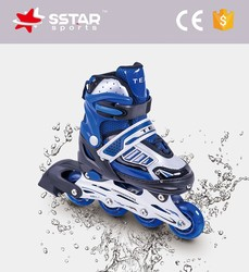2016 flashing 4 wheels rubber&aluminum roller inline skates