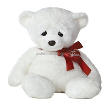 white pure on sale plush stuffed teddy bears