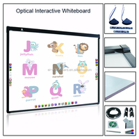 Smart writing white metal nano surface board optical SKD interactive whiteboard for schools