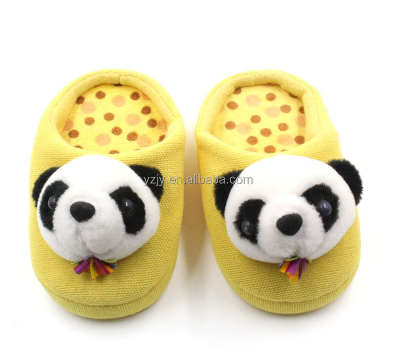 Comfortable panda carton children home slippers