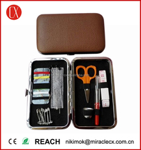 PU leather case sewing set for adults professional sewing kit