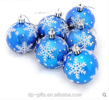 6cm Promotional Plastic Christmas Ball baubles