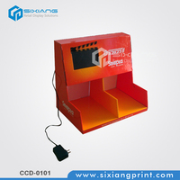 Full Printing Cardboard LCD Counter Display For Digital Shop