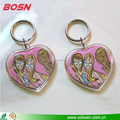 Cute customized sell acrylic heart shape keying lucite Perspex keychain
