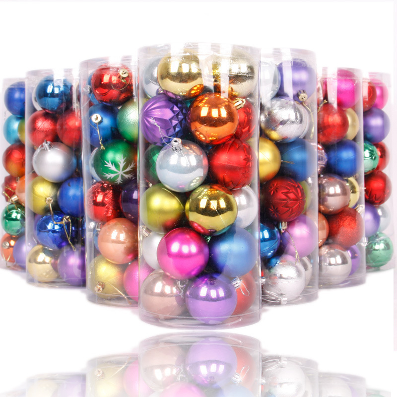Hot selling cheap bulk plain christmas balls plastic