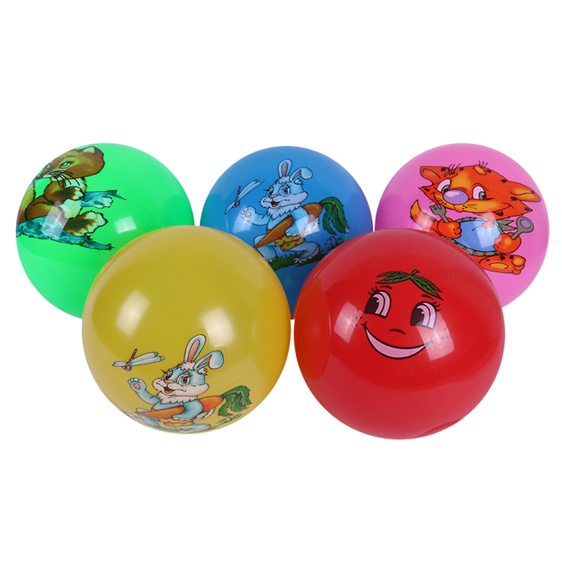 Most hot sale Eco-friendly 9 inch 22.5cm kids color decal sticker play ball