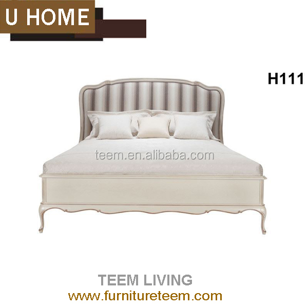 2016 new collection U HOME collection hot sales french style bed king size bed upholstered fabric bed H-111