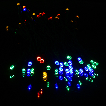 Solar Fairy String Lights For Outdoor Christmas Party with different colors