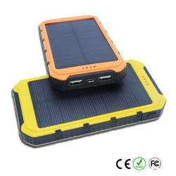 New 10000mah Waterproof solar power bank malaysia solar charger cell phone