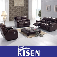 Leather recliner sofa household furniture in foshan