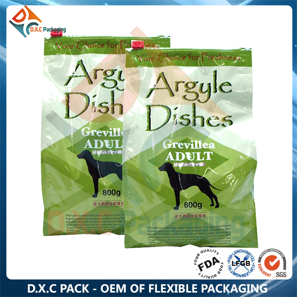 Dry Dog Food Aluminum Foil Packaging Bag With Zipper For Cat Food/Fish Food