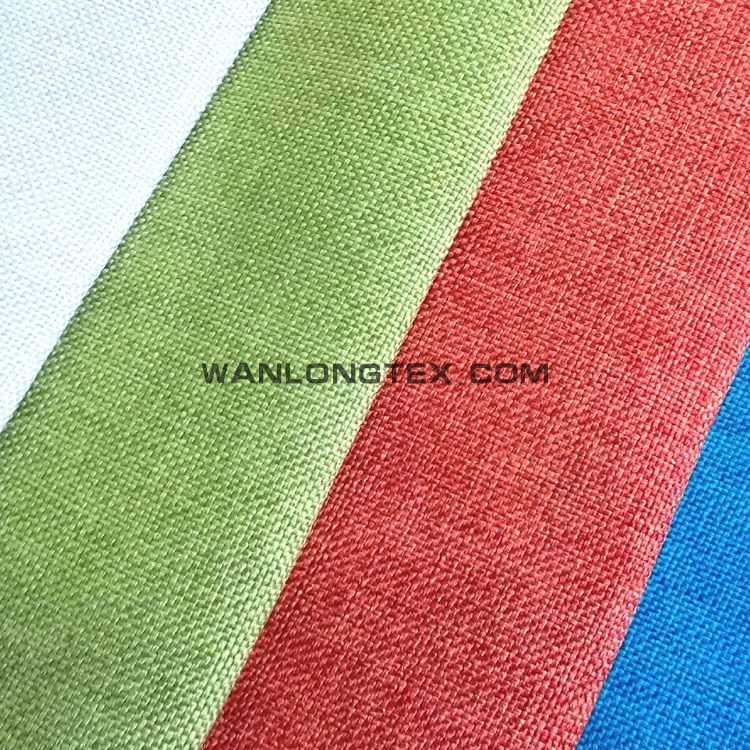 imitation faux linen material for hometextile and upholstery