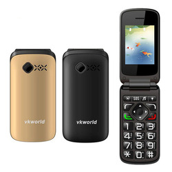 Factory Price Vkworld VK Z2 Flip Mobile Phone 2.4 inch Dual Sim SOS Key Old Man People Phone