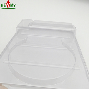 Colourless blister packaging clamshell