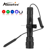 AloneFire 502C LED Tactical Flashlight Torch Hunting Light with gun scope mounts and remote pressure switch