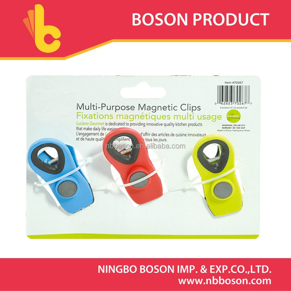 3pcs plastic <strong>clip</strong>,magnetic <strong>clip</strong>