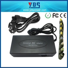 Shenzhen 11 years factory 120W manual universal laptop adapter with 8 standard dc tips