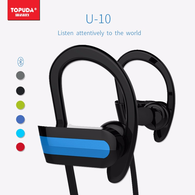 Fashion stylish ear hanging type earphones microphone ear hook sport earphones
