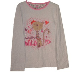 hot apparel spring cat long sleeve t-shirt,Girl clothes