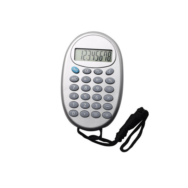 8 Digit Plastic Gift Products Mini Pocket Calculator with Lanyard