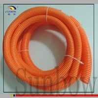 High voltage flexible corrugated automobile electrical wire conduit