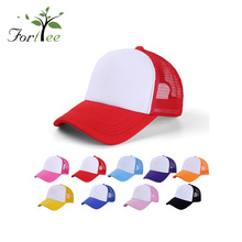 Promotional cheap price fashion soild color outdoor summer boys visor mesh sport cap