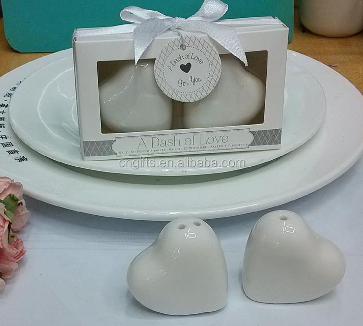 Kids Birthday Party Door Gifts A Dash Of Love Ceramic heart salt and pepper shaker