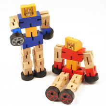 <span class=keywords><strong>Großhandel</strong></span> heiß slling puzzle verformung holz roboter hand spielen boutique modell pädagogisches spielzeug
