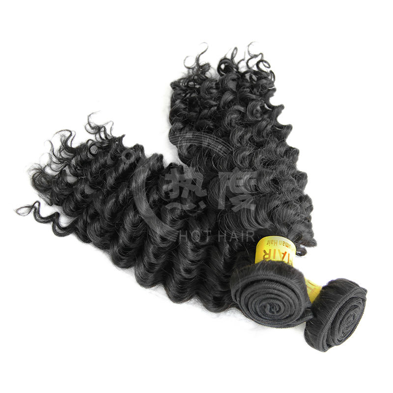 5A cheap unprocessed factory price indian deep wave hair extensions in stock