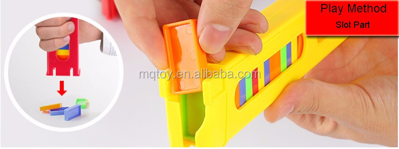 Manual domino building game(60Pcs dominoes and stickers)