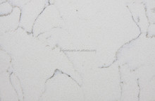 White with veins Artificial quartz stone surface