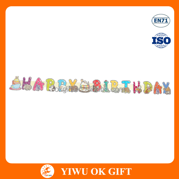 Cute animal happy birthday banner design