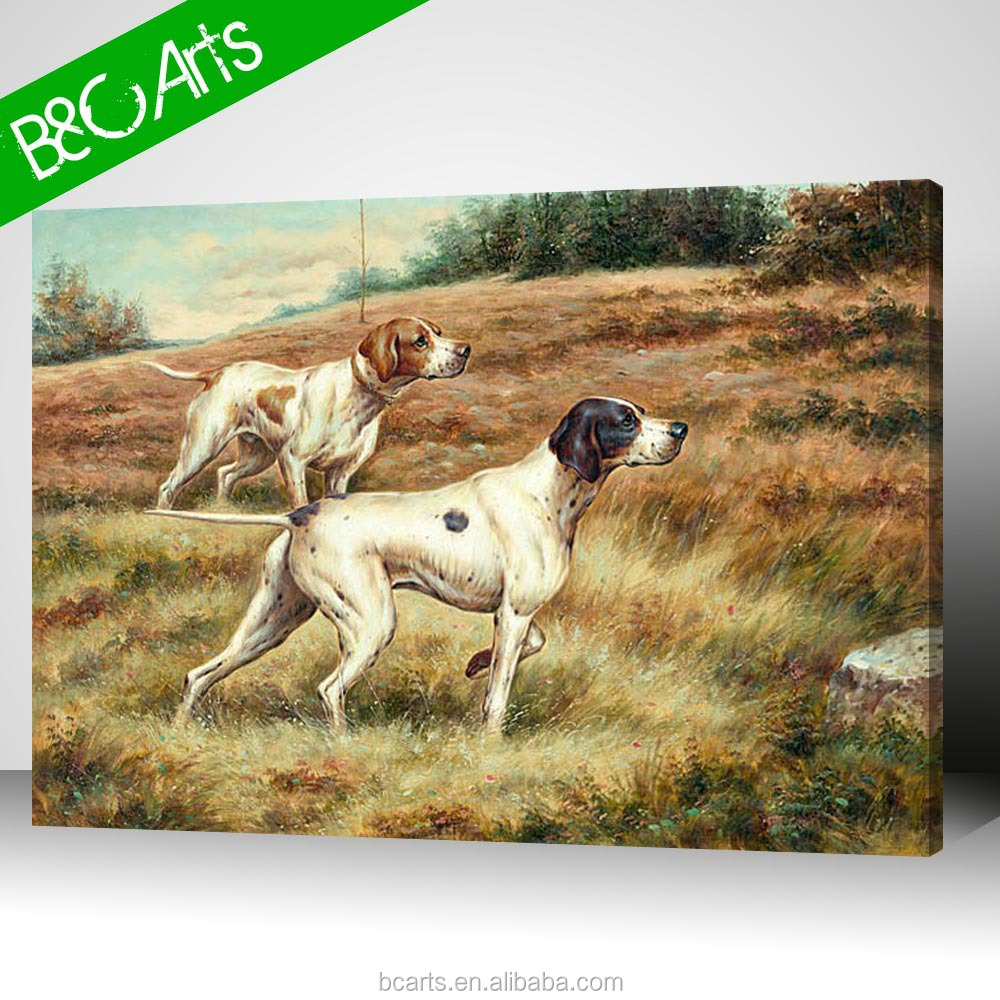 Digital wall decor famous dogs art painting animal onthe canvas print