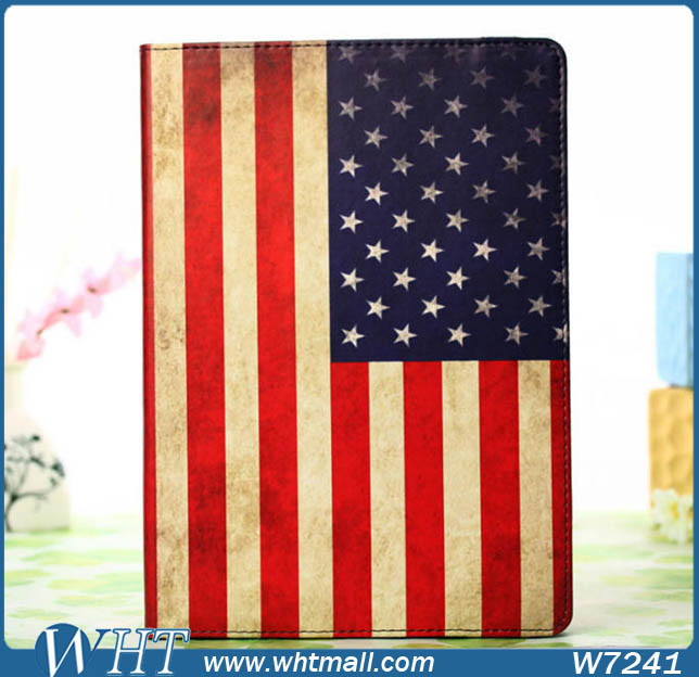 United States Flag Luxury Stand Leather Case for iPad Pro 12.9 Inch