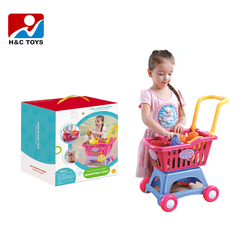 baby toy kid toy New product interesting supermarket kids shopping cart toy with safety material HC375678