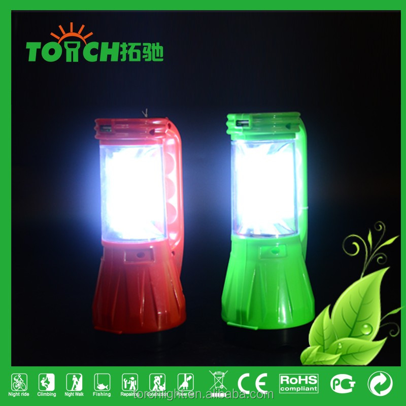 super bright Solar Rechargeable Lantern LED Night Light ABS Plastic Portable Camping Light